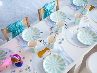 table de goûter décorée