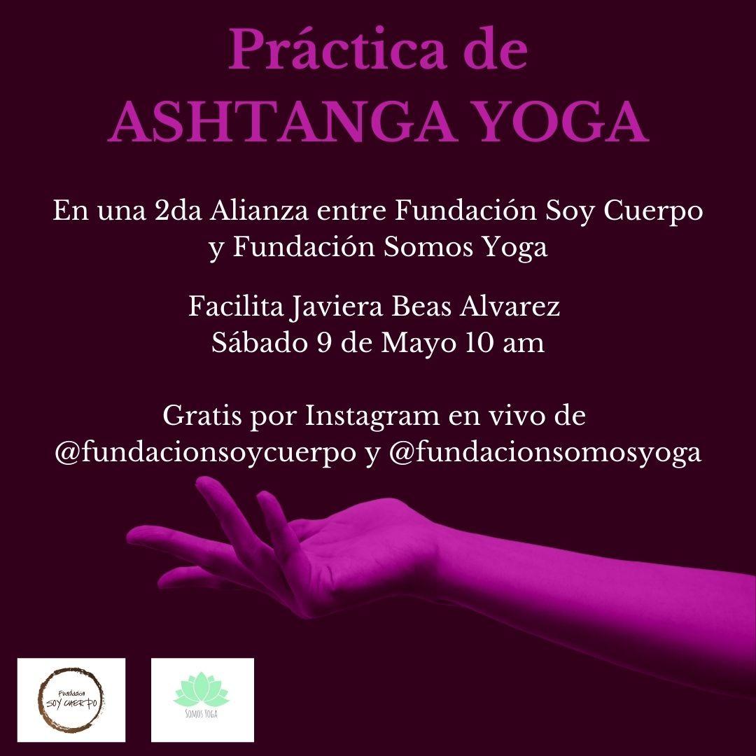 afiche práctica de ashtanga yoga