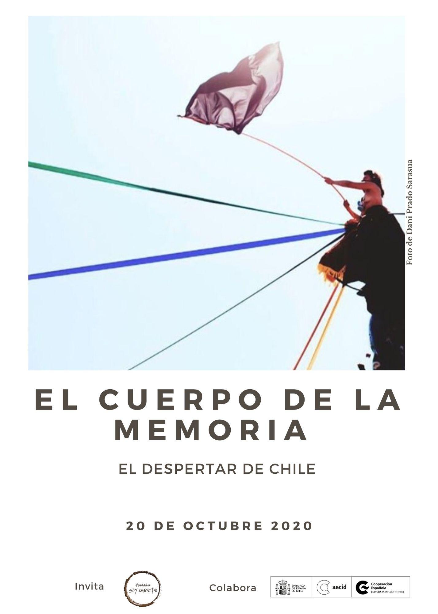 Afiche El Cuerpo de la Memoria 2020. 20 de Octubre.