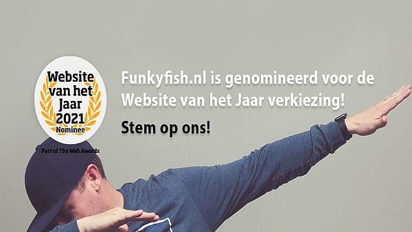 Website van het Jaar 2021 - Stem op ons! funky fish ©