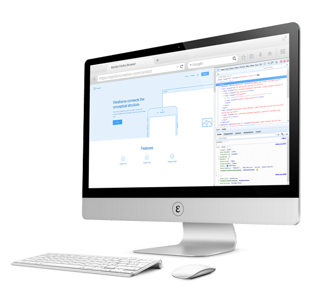 Epsilon Creation web project development