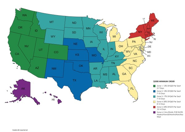 View Image of Flat Rate Shipping Program Across United States