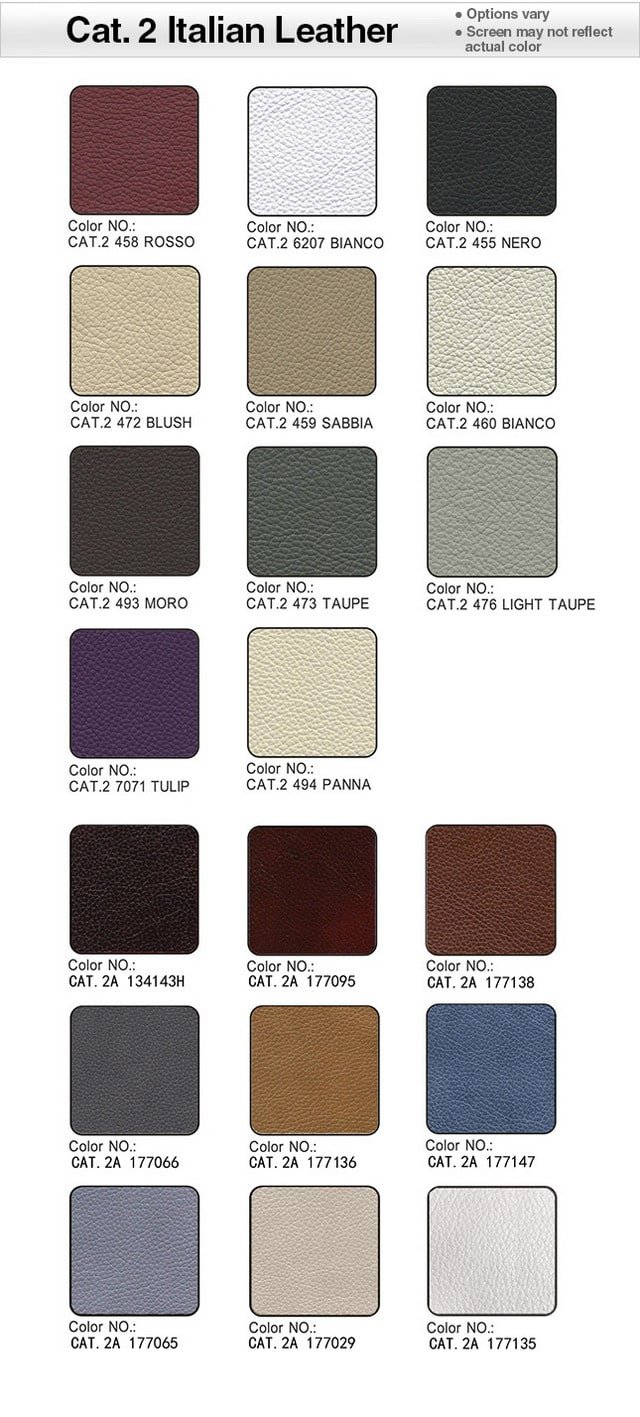 Category 2 Italian Leather Swatches