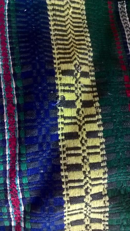 Tkanina dekoracyjna zwzorem kostkowym, opoczyńskie