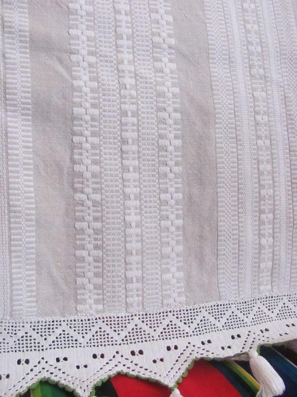 Ozdobne zakończenie tkaniny pościelowej