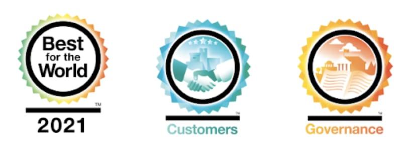 B Corp Best In The World Award Logos