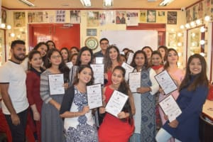 make up artist courses in mumbai - Magical makeover students