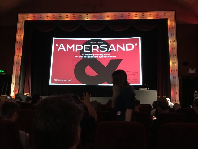 Attendees take their seats at Ampersand Conference 2018