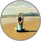 Bronwyn at Kindness Yoga logo