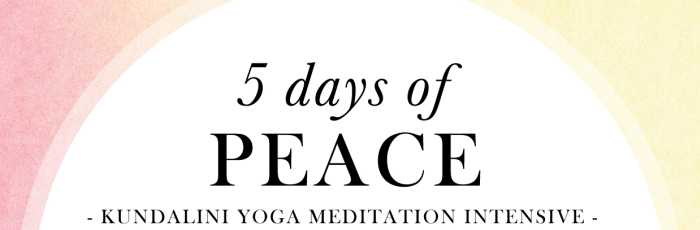 PEACE: 5 day Meditation Intensive 2017,Drummoyne