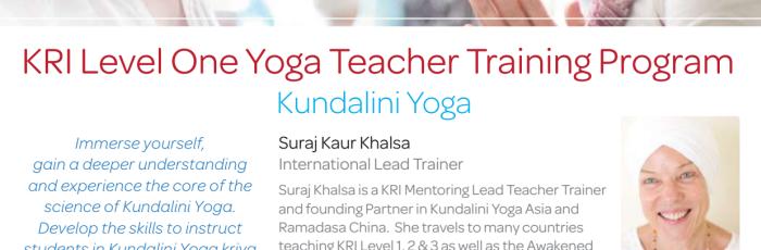 KRI Level 1 Kundalini Yoga Teacher Training ,Auckland