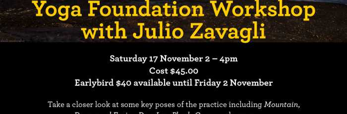 Yoga Foundation Workshop,Crows Nest
