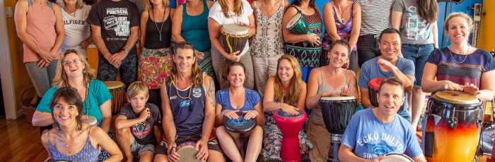 Mantra Drumming Workshop Jam Circle,Mermaid Beach