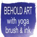 Behold Art with Yoga, Brush & Ink logo