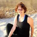 Cristine Davis - Gentle stretch & de-stress yoga. logo