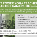 Bryan Kest Power Yoga Teacher Training & Yoga Practice Immersion