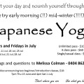 Japanese Yoga in July, Cabarita Beach