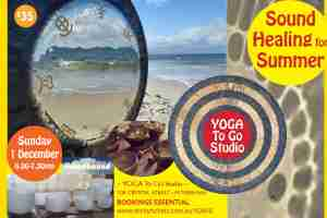 SOUND HEALING SUMMER GONG BATH at Petersham 1 December 6.00pm
