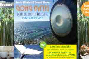 Sound Healing Gong Bath : Sonic Whales & Sound Waves : Sunday 16 August 2.00pm CENTRAL COAST