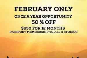 50% OFF 12 MONTH MEMBERSHIPS DURING FEB