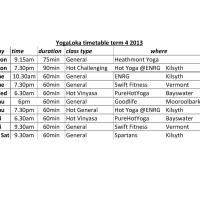 Full timetable