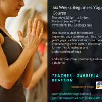 Six Weeks Beginners Yoga Course 2016 Term 1