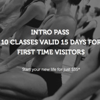 INTRODUCTORY OFFER - $35 10 Class Pass/Valid 15 Days - For first-timers to our studio