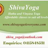 "SHIVA YOGA     ""Yoga for Everyone"" www.shivayoga4everyone.com logo"