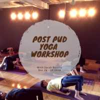 Post Pud Yoga Workshop - with Sarah Bourne