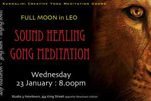 Super Full Moon Sound Healing Meditation : Studio3 Newtown : Wednesday 23 January 8.00pm