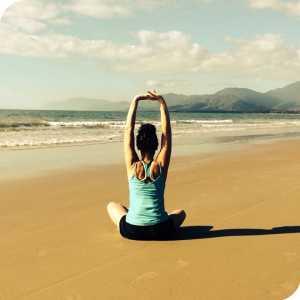 Bronwyn at Kindness Yoga logo