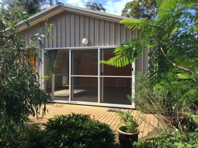 Summer yoga at BrouleeYoga Shed - South Coast NSW