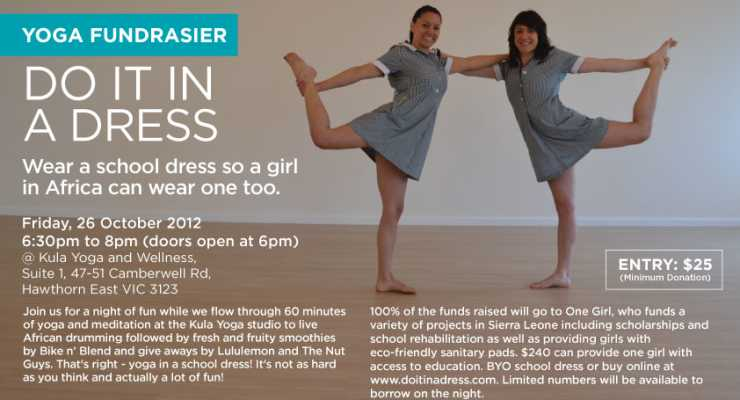 """Do It In A Dress!"" - Yoga Fundraiser"