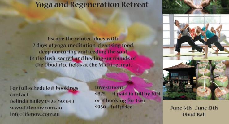 Bali Yoga and Regeneration Retreat