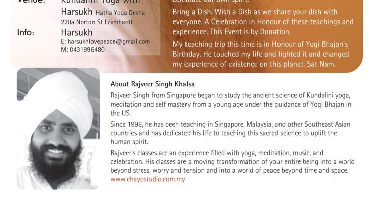 Celebrating Yogi Bhajan's Birthday with Rajveer