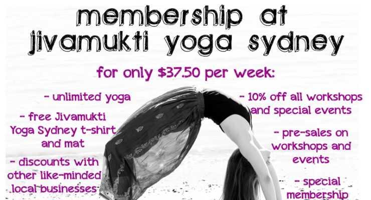 Jivamukti Membership 'Special'