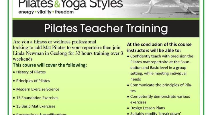 Mat Pilates Level 1 Teacher Training