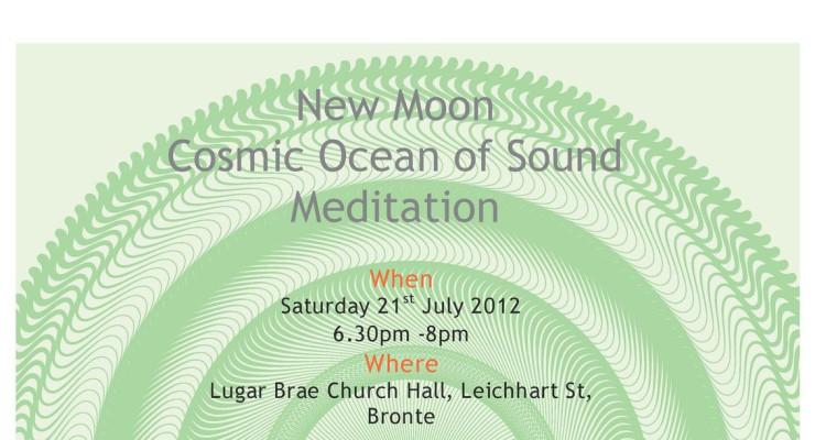 New Moon Cosmic Ocean of Sound healing meditation