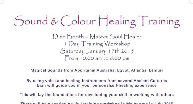 Sound & Colour Training with Dian Booth