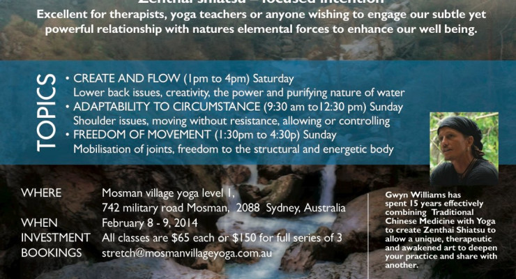 Sydney ZenThai Shiatsu workshops - with Gwyn Williams