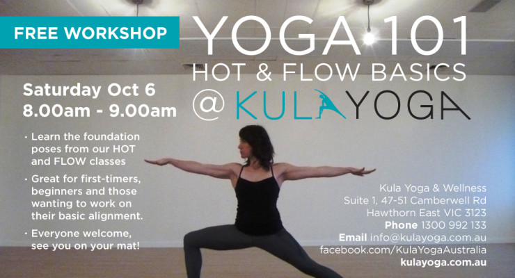 Yoga 101 - Hot & Flow Basics FREE Workshop