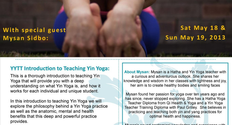 YYTT - Intro To Teaching Yin Yoga