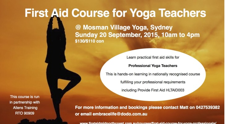 First Aid for Yoga Teachers