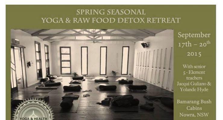 Spring detox yoga and raw food retreat