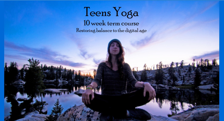 Yoga for teenage girls.