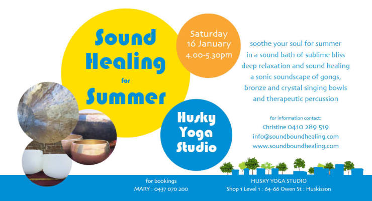 Sound Healing for Summer at Huskisson by soundbound