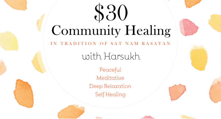 $ 30 Private sessions of Community Healing