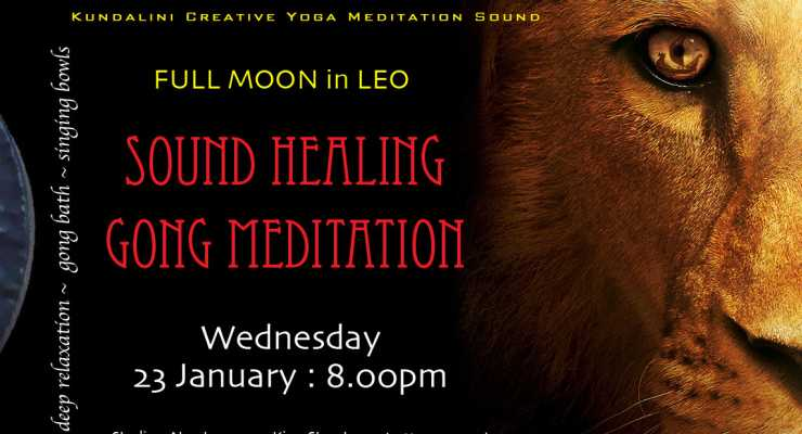 Super Full Moon Sound Healing Meditation : Studio3 Newtown : Wednesday 23 January 8.00pm
