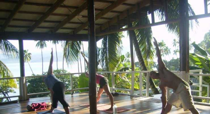 Yoga, Mindfulness and Meditation in Fiji: Effort and surrender, a balance in body and mind with Sam Connor and Susie Spinks,