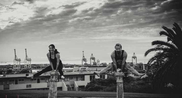 Hand balancing in Fremantle